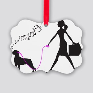Mountain-Cur32 Picture Ornament