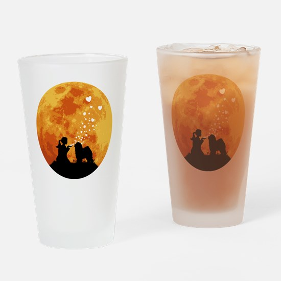 Old-English-Sheepdog22 Drinking Glass