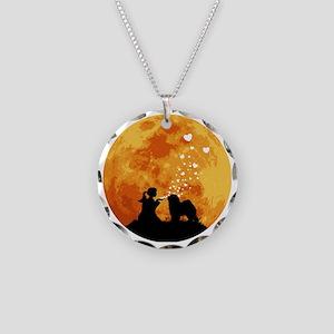 Old-English-Sheepdog22 Necklace Circle Charm