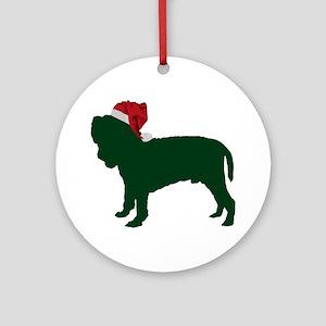 Neapolitan-Mastiff23 Round Ornament