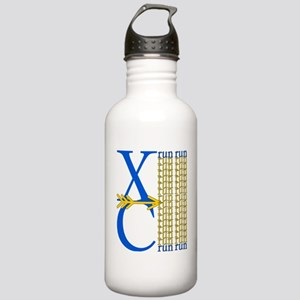 XC Run Blue Gold Stainless Water Bottle 1.0L