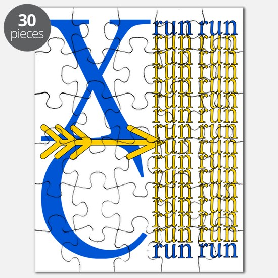 XC Run Blue Gold Puzzle