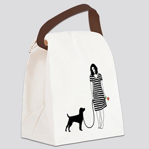 Patterdale-Terrier11 Canvas Lunch Bag
