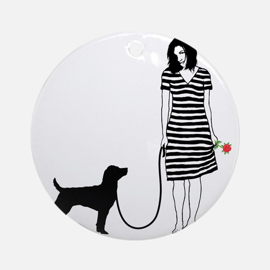 Patterdale-Terrier11 Round Ornament