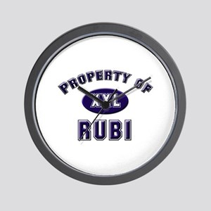 Property of rubi Wall Clock