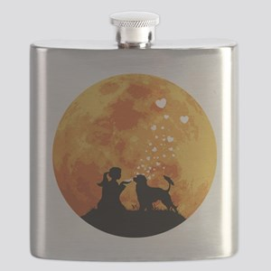 Portuguese-Water-Dog22 Flask