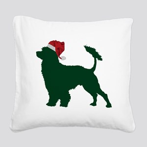 Portuguese-Water-Dog23 Square Canvas Pillow