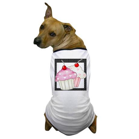 2 Big Cupcakes Dog T-Shirt