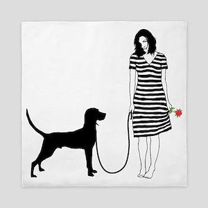 Redbone-Coonhound11 Queen Duvet