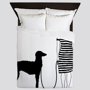 Scottish-Deerhound11 Queen Duvet