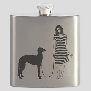 Scottish-Deerhound11 Flask