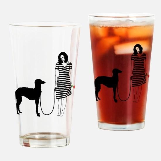 Scottish-Deerhound11 Drinking Glass