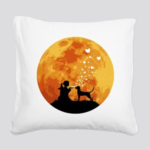 Redbone-Coonhound22 Square Canvas Pillow
