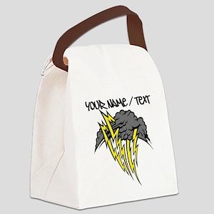 Lightning Storm Canvas Lunch Bag