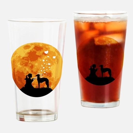 Scottish-Deerhound22 Drinking Glass