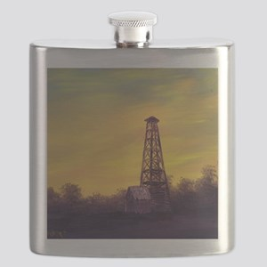 old derick sunset panel print Flask