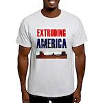 Extruding America Ash Grey T-Shirt