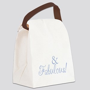 40 and fabulous_dark Canvas Lunch Bag