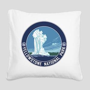 circle-Yellowstone_v3 Square Canvas Pillow