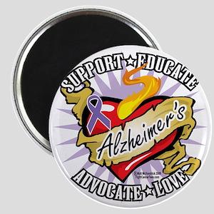 Alzheimers-Classic-Heart Magnet