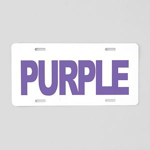 Alzheimers-THINK-Purple-blk Aluminum License Plate