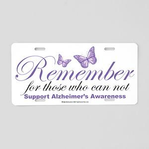 Remember-Alzheimers-2009 Aluminum License Plate
