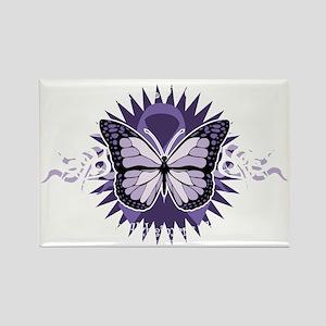 AlzheimersTribal-Butterfly-2009-b Rectangle Magnet