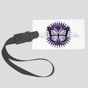 AlzheimersTribal-Butterfly-2009- Large Luggage Tag