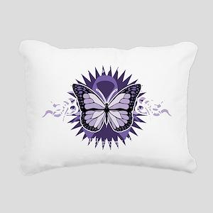 AlzheimersTribal-Butterf Rectangular Canvas Pillow