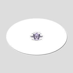 AlzheimersTribal-Butterfly-2 20x12 Oval Wall Decal