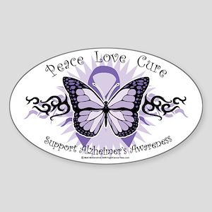 AlzheimersTribal-Butterfly-2009 Sticker (Oval)