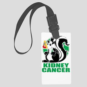 Kidney-Cancer-Stinks-blk Large Luggage Tag