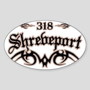 Shreveport 318 Sticker (Oval)
