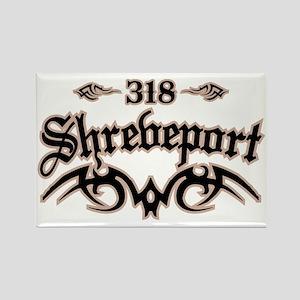 Shreveport 318 Rectangle Magnet