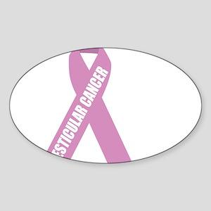Testicular-Cancer-Hope-blk Sticker (Oval)