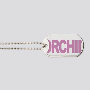 Testicular-Cancer-Think-Orchid-blk Dog Tags