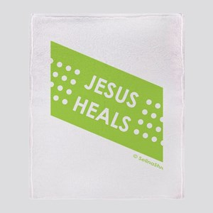 """Jesus Heals"" Throw Blanket"