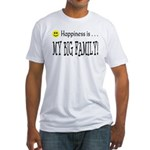Happiness is MY BIG FAMILY Fitted T-Shirt