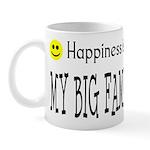 Happiness is MY BIG FAMILY Mug