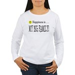Happiness is MY BIG FAMILY Women's Long Sleeve T-S