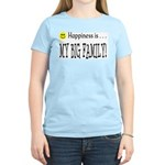 Happiness is MY BIG FAMILY Women's Pink T-Shirt
