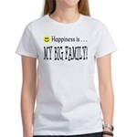 Happiness is MY BIG FAMILY Women's T-Shirt