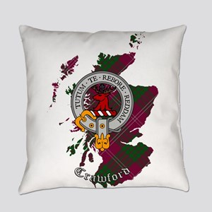 Clan Crawford Crest Everyday Pillow