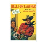 Postcards (pkg. 8) - 'Hell For Leather'