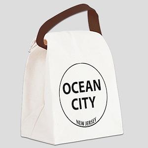 oceancity5 Canvas Lunch Bag