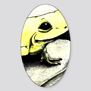 Frog_5x8_journal Sticker (Oval)