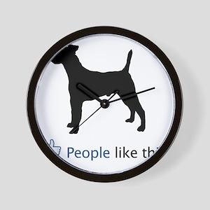 Smooth-Fox-Terrier03 Wall Clock
