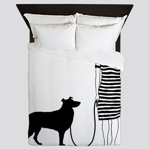 Smooth-Collie11 Queen Duvet