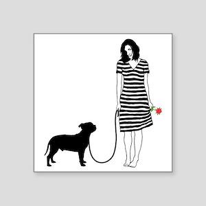 "Staffordshire-Bull-Terrier1 Square Sticker 3"" x 3"""