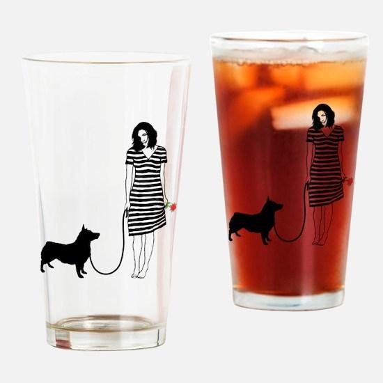 Swedish-Vallhund11 Drinking Glass